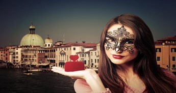 A Woman in a Venetian Mask
